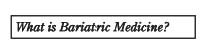 What is Bariatic Medicine Button